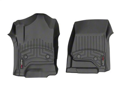 Weathertech DigitalFit Front & Rear Floor Liners - Black (14-18 Sierra 1500 Crew Cab w/ Vinyl Floors)