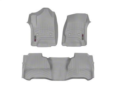 Weathertech DigitalFit Front & Rear Floor Liners - Gray (14-18 Sierra 1500 Crew Cab)
