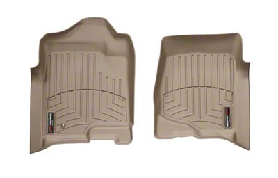 Weathertech DigitalFit Front & Rear Floor Liners - Tan (07-13 Sierra 1500 Crew Cab)