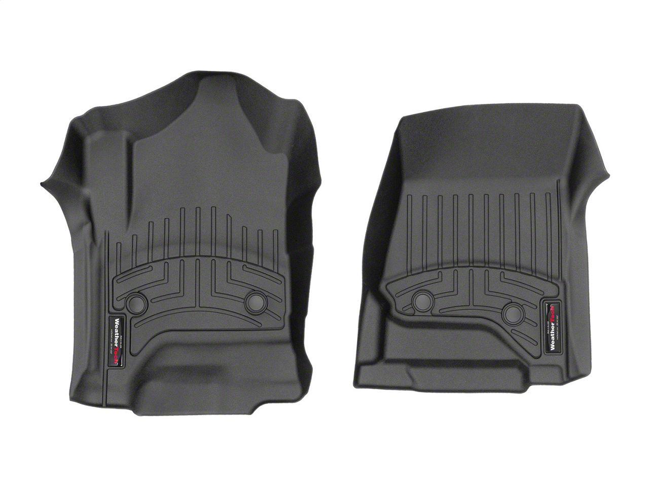 Weathertech DigitalFit Front Floor Liners - Black (14-18 Sierra 1500 Double Cab, Crew Cab w/ Vinyl Floors)