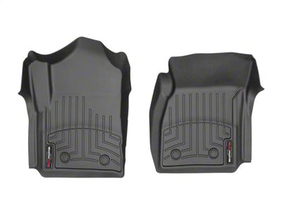Weathertech DigitalFit Front Floor Liners - Over The Hump - Black (14-18 Sierra 1500 Regular Cab w/ Vinyl Floors)