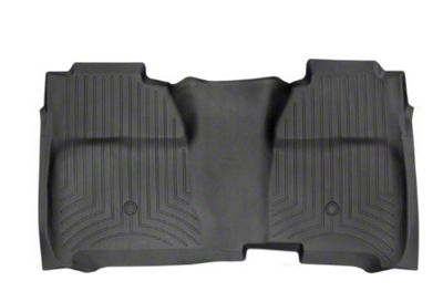 Weathertech DigitalFit Rear Floor Liner - Black (14-18 Sierra 1500 Crew Cab w/ Vinyl Floors)