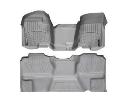 Weathertech DigitalFit Front & Rear Floor Liners - Over The Hump - Gray (07-13 Sierra 1500 Extended Cab)