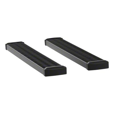 Luverne Grip Step 7 in. Rocker Mount Running Boards - Textured Black (07-13 Sierra 1500 Regular Cab)