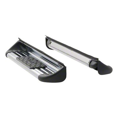 Luverne Stainless Side Entry Rocker Mount Running Boards - Polished (14-18 Sierra 1500 Double Cab)