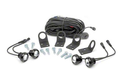 Rough Country LED Rock Light Kit w/ Mounting Brackets