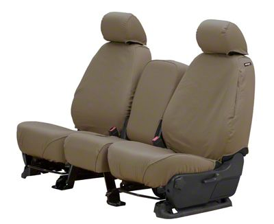 Husky Heavy Duty Front Row Seat Cover - Taupe (14-18 Sierra 1500 w/ Bench Seat)