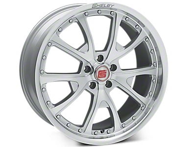 Silver Machined Shelby CS40 Wheels<br />('15-'20 Mustang)