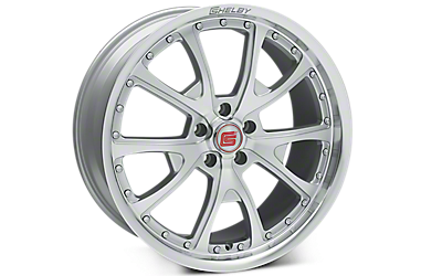 Silver Machined Shelby CS40 Wheels 2005-2009