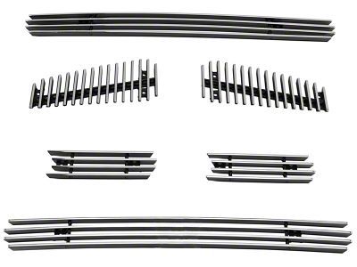 Modern Billet 6-Piece Upper Overlay Grille - Polished (04-08 F-150 FX4, STX, King Ranch)