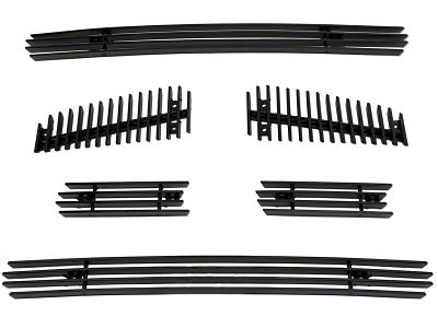 Modern Billet 6-Piece Upper Overlay Grille - Black (04-08 F-150 FX4, STX, King Ranch)