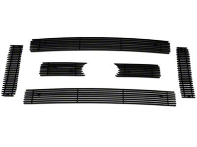 Modern Billet 6-Piece Upper Overlay Grille - Black (09-12 F-150 Lariat, King Ranch)