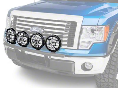 Ford Performance 8 in. Round Auxiliary HID Lights - Set of Four (09-14 F-150)