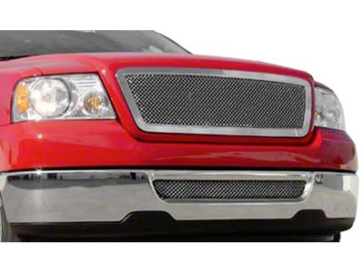T-REX Hybrid Series Lower Bumper Mesh Grille Insert - Polished (06-08 F-150)