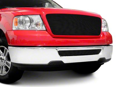 T-REX Billet Series Upper Replacement Grille w/ Emblem Delete - Black (04-08 F-150)