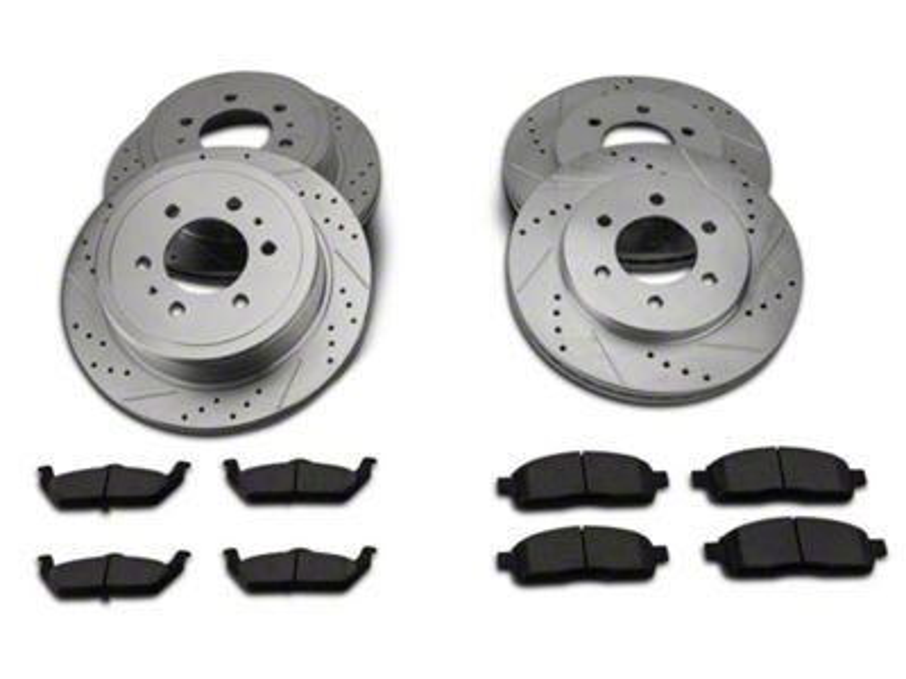 Power Stop Z23 Evolution Sport 6-Lug Brake Rotor & Pad Kit - Front & Rear (04-08 2WD F-150)