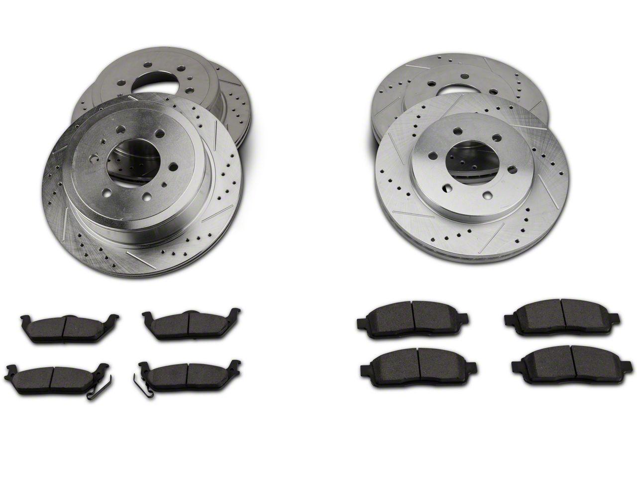 Power Stop Z23 Evolution Sport 6-Lug Brake Rotor & Pad Kit - Front & Rear (04-08 4WD F-150)