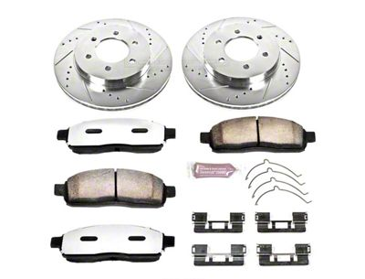 Power Stop Z36 Extreme Truck & Tow 6 or 7-Lug Brake Rotor & Pad Kit - Front (04-08 4WD F-150)