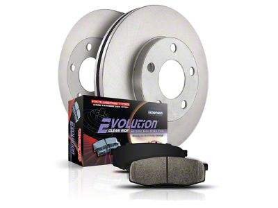 Power Stop OE Replacement Brake Rotor & Pad Kit - Front & Rear (99-Early 00 4WD F-150 5-Lug)