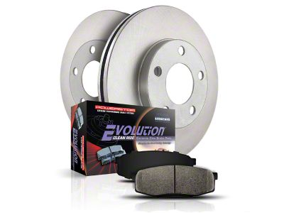 Power Stop OE Replacement Brake Rotor & Pad Kit - Front & Rear (99-Early 00 Lightning F-150)