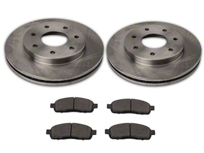 Power Stop OE Replacement 6 or 7-Lug Brake Rotor & Pad Kit - Front (04-08 4WD F-150)