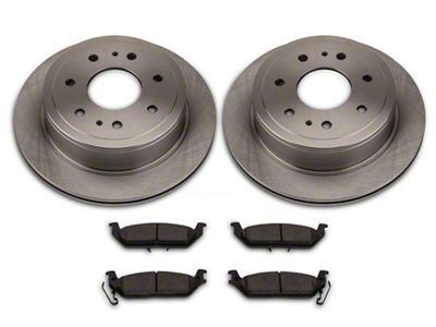 Power Stop OE Replacement 6 or 7-Lug Brake Rotor & Pad Kit - Rear (04-11 2WD/4WD F-150)