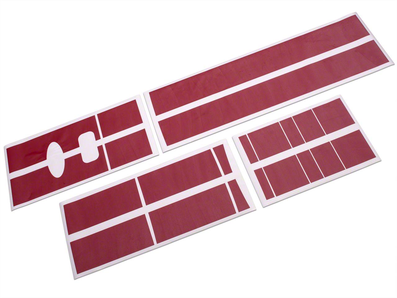 Roush Red Stripe Kit - Top (04-08 SuperCab, SuperCrew)