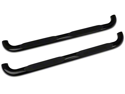 Barricade 4 in. Oval Bend Side Step Bars - Gloss Black (04-08 F-150)