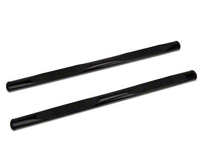 Barricade 4 in. Oval Straight Side Step Bars - Gloss Black (97-03 F-150 SuperCab, SuperCrew)