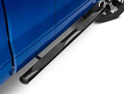 Barricade 4 in. Oval Straight Side Step Bars - Gloss Black (09-14 F-150)