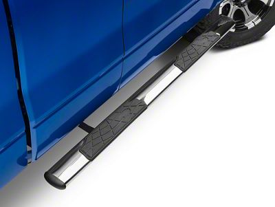 Barricade 4.5 in. Oval Straight Side Step Bars - Stainless Steel (09-14 F-150)