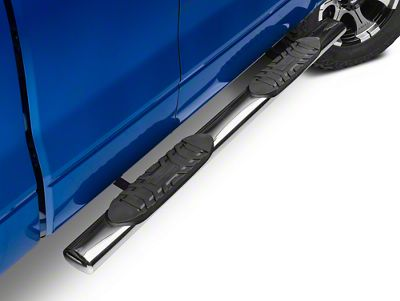 Barricade 5 in. Oval Straight Side Step Bars - Stainless Steel (09-14 F-150)