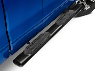 Barricade 6 in. Oval Straight Side Step Bars - Gloss Black (09-14 F-150 SuperCab, SuperCrew)