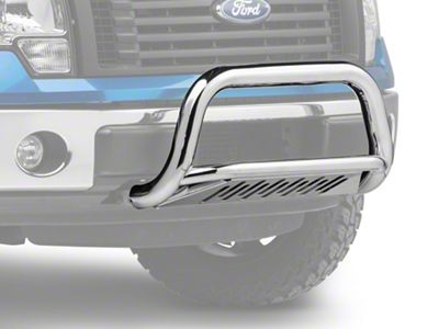 Barricade 3 in. Bull Bar w/ Skid Plate - Stainless Steel (11-19 2.7L/3.5L EcoBoost F-150, Excluding Raptor)