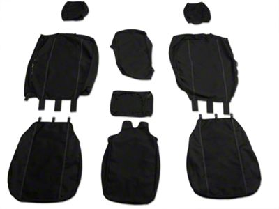 Fia Custom Fit Poly-Cotton Front 40/20/40 Seat Cover - Black (04-08 F-150 w/ Bench Seat)