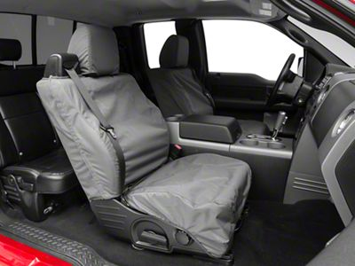 Covercraft Seat Saver Waterproof Front Bucket Seat Covers - Gray (04-08 F-150 Regular Cab, SuperCab; 07-08 SuperCrew)