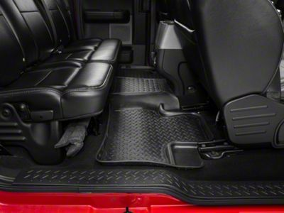 Husky Classic 2nd Seat Floor Liner - Black (04-08 F-150 SuperCab, SuperCrew)