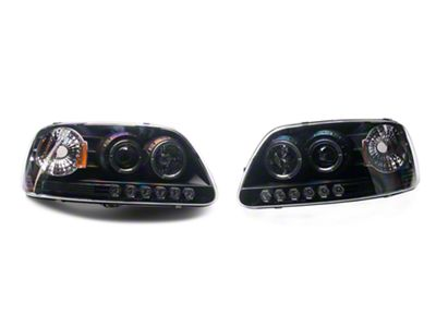 Axial Black Projector Headlights (97-03 F-150)