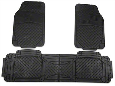 TruShield All Weather Floor Mat Set w/One-Piece Rear Mat - Black (97-14 F-150)