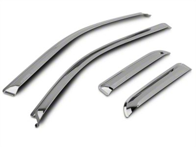 Putco Chrome Element Window Visor - Tape On - Front & Rear (09-14 F-150 SuperCab, SuperCrew)