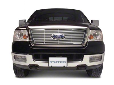 Putco Liquid Billet Upper Overlay Grille w/ Emblem Cutout (99-03 F-150 w/ OE Bar Style Grille)