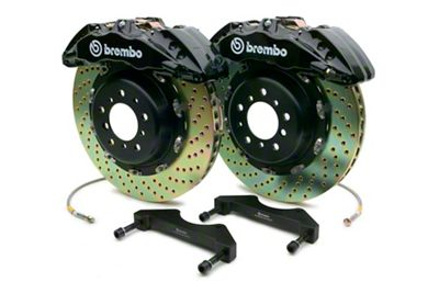 Brembo GT Series 6-Piston Front Brake Kit - 15 in. Drilled Rotors - Black (10-14 F-150 Raptor)