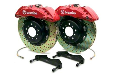 Brembo GT Series 6-Piston Front Brake Kit - 15 in. Drilled Rotors - Red (10-14 F-150 Raptor)