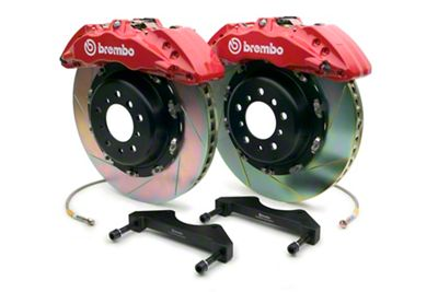 Brembo GT Series 6-Piston Front Brake Kit - 15 in. Type 1 Slotted Rotors - Red (10-14 F-150 Raptor)
