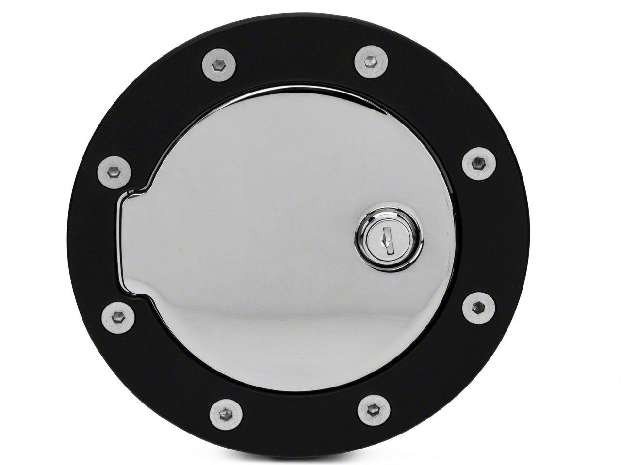 Modern Billet Race Style Billet Locking Fuel Door - Flat Black (97-03 F-150)
