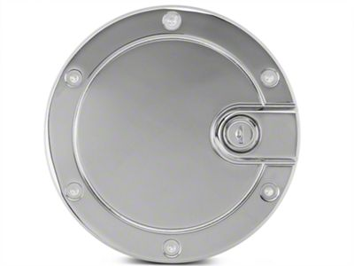 Modern Billet Race Style Billet Locking Fuel Door - Chrome (04-08 F-150 Flareside)