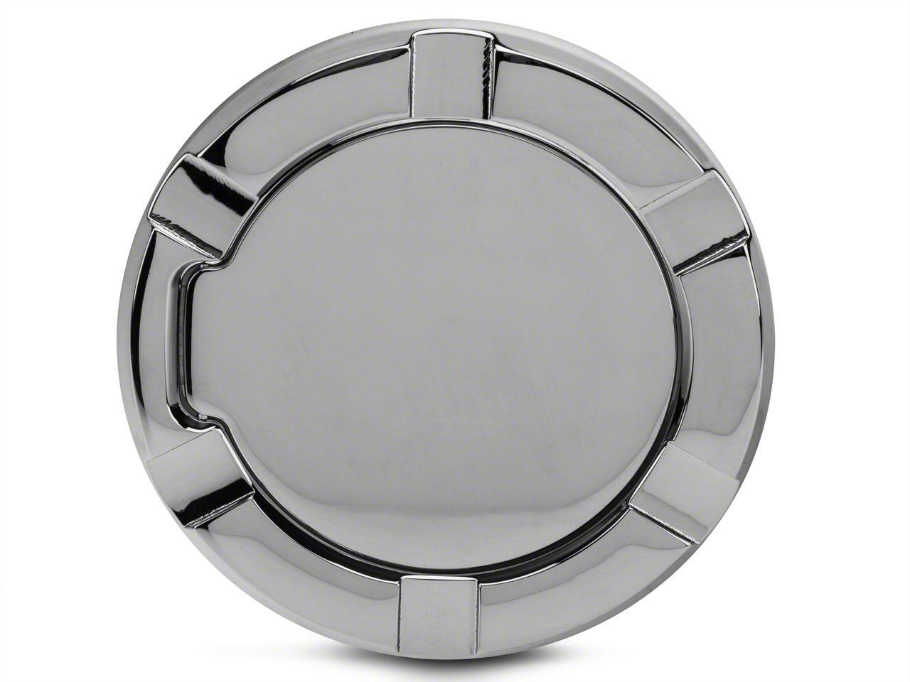 Modern Billet Striker Style Billet Non-Locking Fuel Door - Chrome (97-03 F-150)