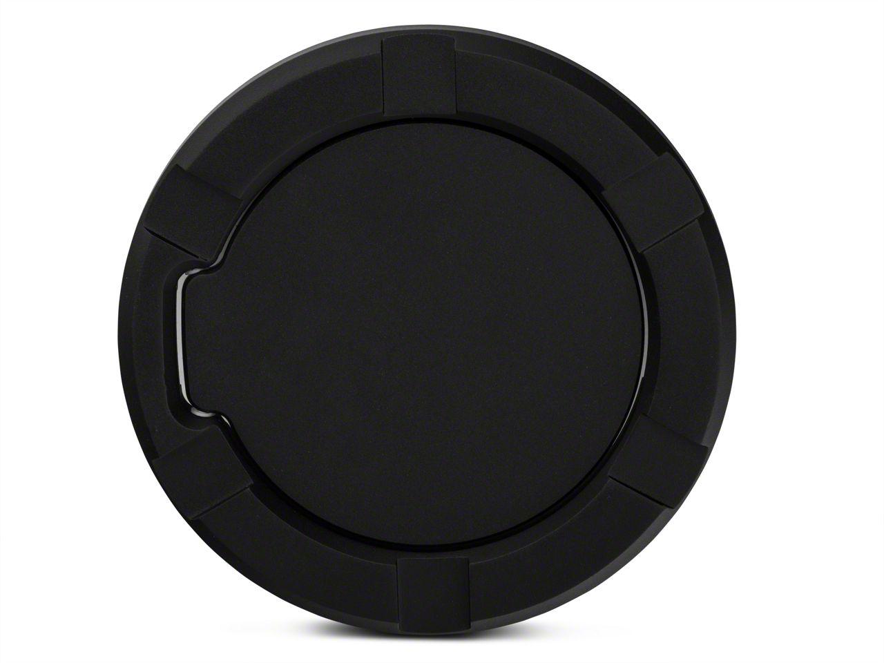 Modern Billet Striker Style Billet Non-Locking Fuel Door - Flat Black (97-03 F-150)