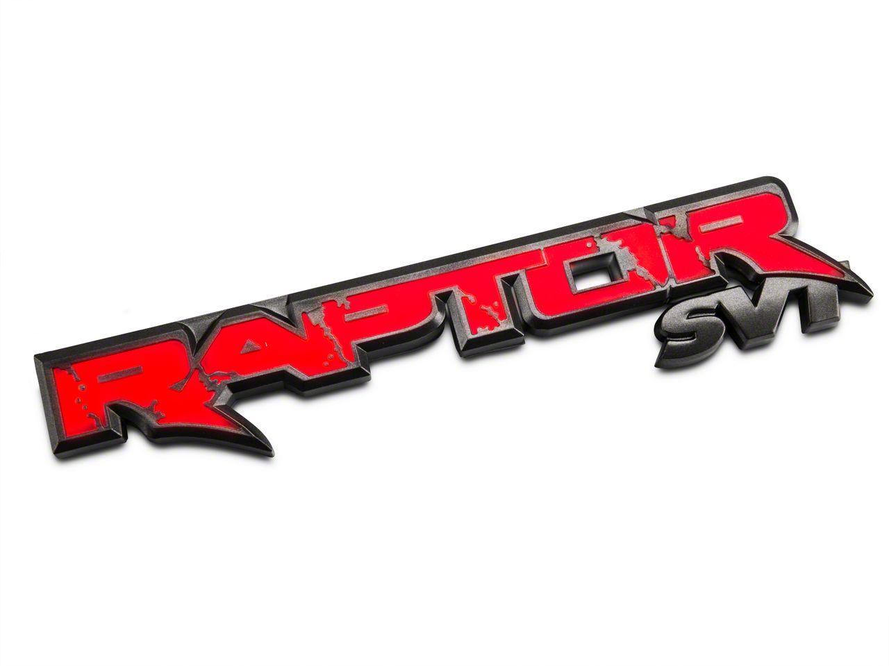 Recon Illuminated Rear Tailgate Emblem - w/ Red Illumination (10-14 F-150 Raptor)