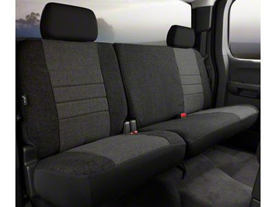 Fia Custom Fit Tweed Rear 60/40 Seat Cover - Charcoal (09-14 F-150 SuperCab, SuperCrew)